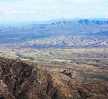 View from the moutain over looking far away city by Randomshots68
