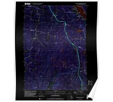 USGS TOPO Map New Hampshire NH North Grantham 329727 1998 24000 Inverted Poster