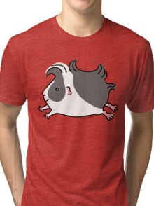 Leaping Guinea-pig ... Black and White  Tri-blend T-Shirt