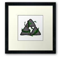 Stone Triangles Framed Print