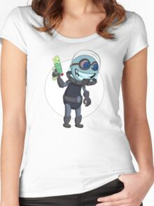 Mr Freeze heats things up Women's Fitted Scoop T-Shirt