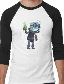 Mr Freeze heats things up Men's Baseball ¾ T-Shirt