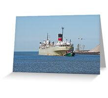 Tugboat Tow On The River Greeting Card