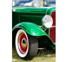 Green Hot Rod Photographic Print