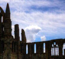 Whitby Abbey Ruin Sticker