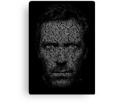 House MD made with text Canvas Print