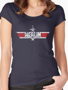 Custom Top Gun Style - Merlin Women's Fitted Scoop T-Shirt