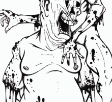 Bath Salts Zombie Sticker