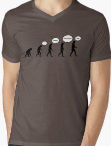 99 Steps of Progress - Language Mens V-Neck T-Shirt