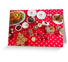1/12th scale miniature Christmas Food Greeting Card