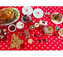 1/12th scale miniature Christmas Food Photographic Print