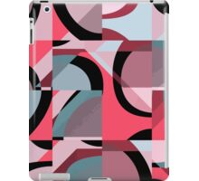 Nouveau Retro Graphic Red Black and Gray iPad Case/Skin