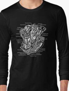 Detroit POWER!  (white ink) Long Sleeve T-Shirt