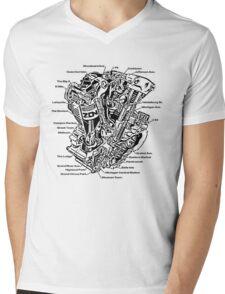 Detroit POWER! Mens V-Neck T-Shirt