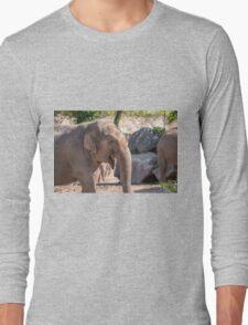 Close up of an Asian Elephant face Long Sleeve T-Shirt