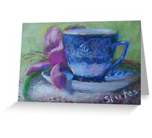 Blue Coffee Cup  Greeting Card