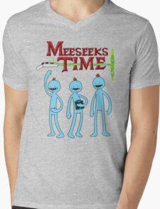 Meeseeks Time Mens V-Neck T-Shirt