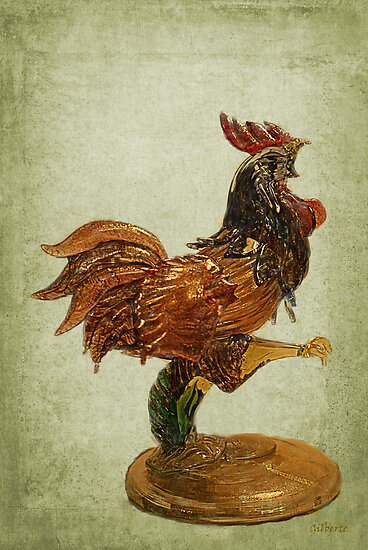 Fighting Coq - Murano Glass by Gilberte