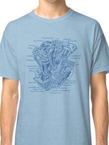 Detroit POWER! (blue ink) Classic T-Shirt