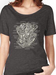 Detroit POWER! (tan ink) Women's Relaxed Fit T-Shirt