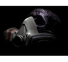 Gas Mask Glitter Skull Photographic Print
