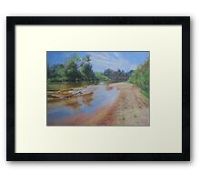 River On A Summer Day Framed Print