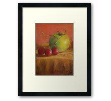 Green Apple Print Framed Print