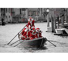 Santa's on a Venetian Gondola !!  Photographic Print