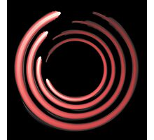 Rough organic circles in red Photographic Print