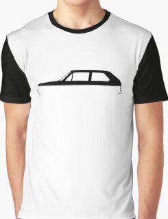 Silhouette Volkswagen VW Golf Mk1 Graphic T-Shirt