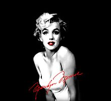 Marilyn Monroe w/ signature by jzimm95