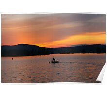 Sunset Paddle Poster