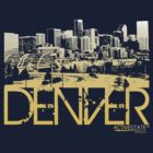 Denver Skyline T-shirt Design by FlagSilhouettes