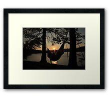 Sacandaga Sunset Framed Print