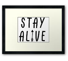 Stay Alive - Hunger Games (Black) Framed Print