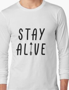 Stay Alive - Hunger Games (Black) Long Sleeve T-Shirt