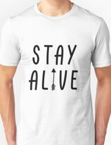 Stay Alive - Hunger Games (Black) Unisex T-Shirt