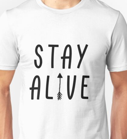 Stay Alive - Hunger Games (Black) Unisex T-Shirt