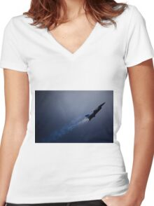 Into the Light Women's Fitted V-Neck T-Shirt