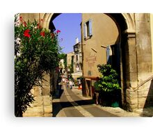 The Gate to the old town at St Remy de Provence Canvas Print