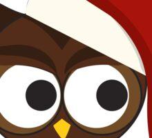 Owl be home for Christmas Santa Owl Sticker