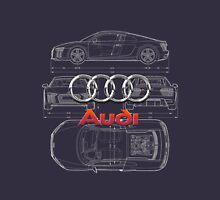 Audi 3D Badge over 2016 Audi R8 Blueprint T-Shirt