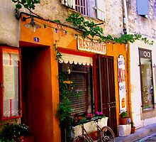 Bistro Bicycle in St Remy-de-Provence by Rusty  Gladdish