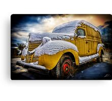 Old Panel Van HDR Canvas Print