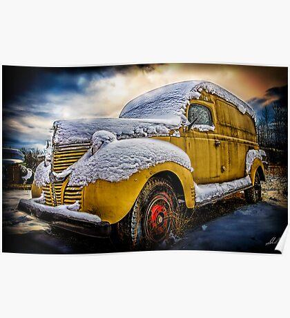Old Panel Van HDR Poster