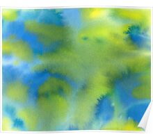 Blue and Green Abstract Watercolor Poster