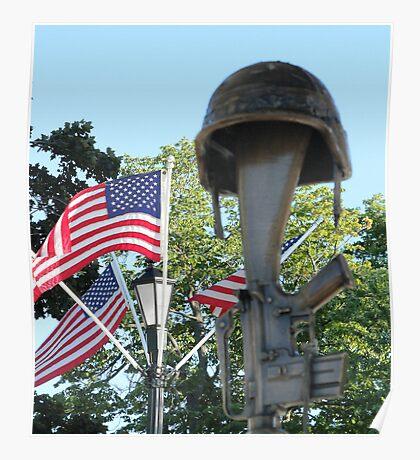The Soldier's Cross - Battlefield Cross Poster