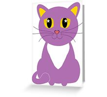 Only One Purple Kitty Greeting Card