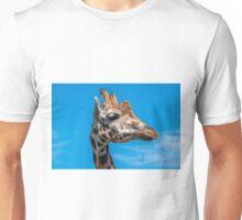 Close up photo of a Rothschild Giraffe head Unisex T-Shirt