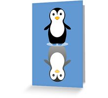 LONELY PENGUIN REFLECTING Greeting Card